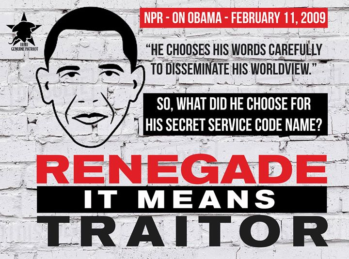 Renegade Means Traitor