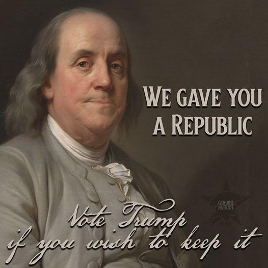 We Gave You a Republic!